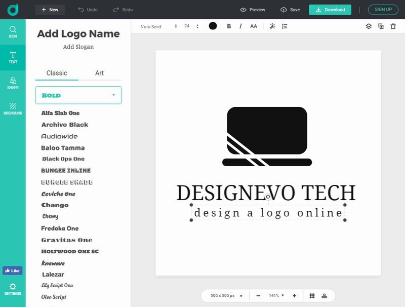 How to Pick and Design A Logo for Business with DesignEvo.