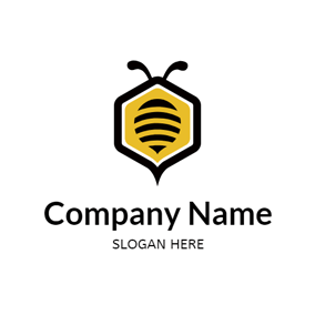 Abstract Bee and Honey logo design