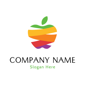 Abstract Colorful Apple Icon logo design