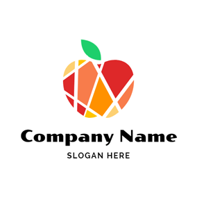 Abstract Colorful Apple logo design