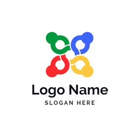 Abstract Colorful Man Icon logo design