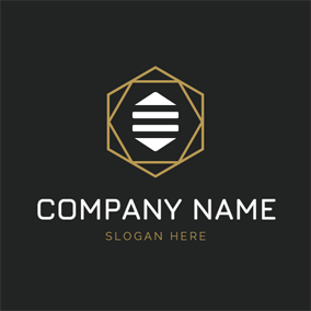 Abstract Honeycomb and Bee Body logo design