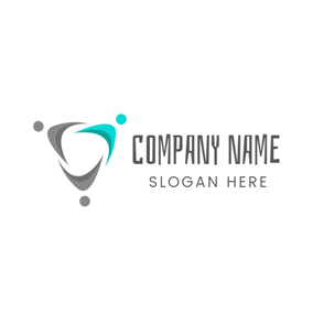 Abstract Triangle and Family logo design
