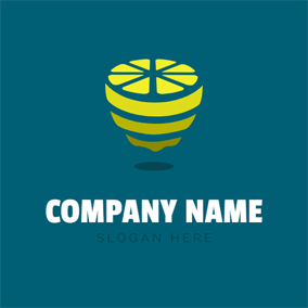 Abstract Yellow Lemon logo design