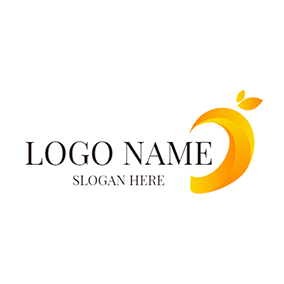 Abstract Yellow Mango Icon logo design