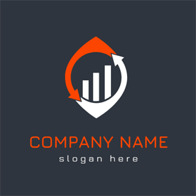 Arrow and Diagram Accounting logo design