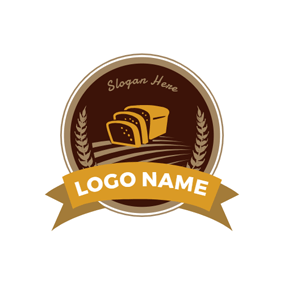 Badge and Yummy Bread logo design