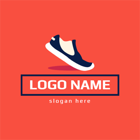3bee105ddd3d Fire and Sneaker Shoe · Banner and Sneaker Shoe logo design