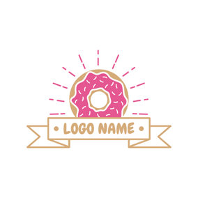 Banner and Sweet Doughnut logo design