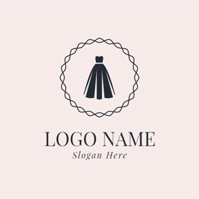 Beautiful Black Dress logo design