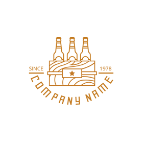 Beer Case and Beer Bottle logo design