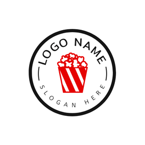 Big Circle and Popcorn Outline logo design