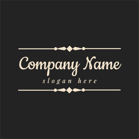 Black and Golden Pattern logo design