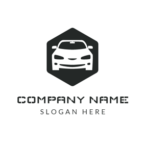 Black and White Car logo design