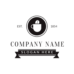Black and White Coffee logo design