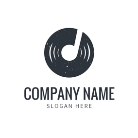Black and White Disk logo design