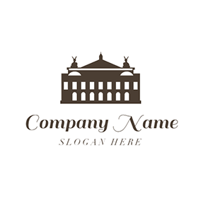 Black and White Opera House logo design