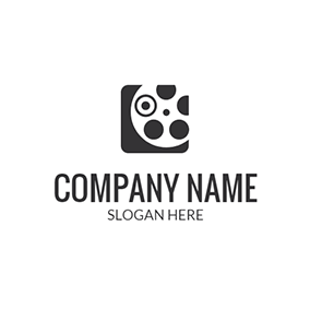 Black and White Projector logo design