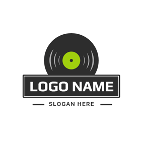 Black Banner and Vinyl logo design
