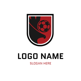 Black Eagle and Football logo design