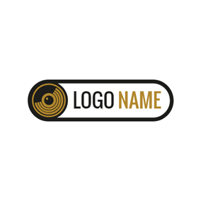 Black Loud Speaker logo design