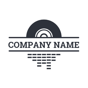 Black Rectangle and CD logo design