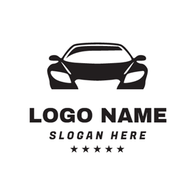 Black Star and Car logo design