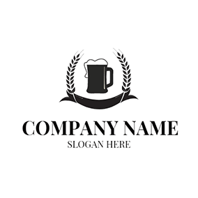 Black Wheat and White Beer logo design
