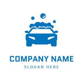 Blue Bubble Car Wash logo design