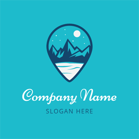 Blue Drop and Mazarine Mountain logo design