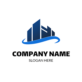 Blue Road and Architecture logo design