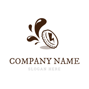 Bottle Cap and Brown Soda logo design