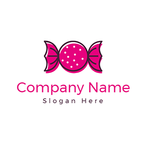 Brown and Red Candy logo design