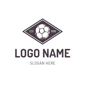 Brown and White Football Badge logo design