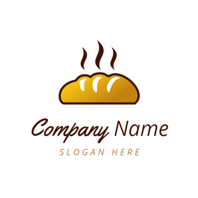Brown and Yellow Bread logo design