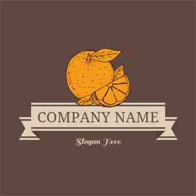 Brown and Yellow Orange logo design