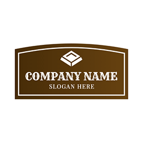 Brown Banner and White Chocolate logo design