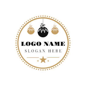 Brown Circle and Candy logo design