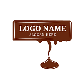 Brown Cream and Chocolate Bar logo design