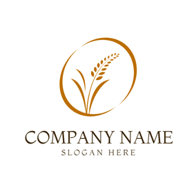 Brown Oval and Outlined Paddy logo design