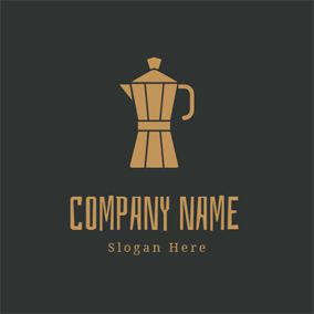 Brown Tea Pot logo design