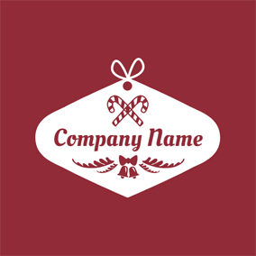 Candy Cane and Christmas Gift logo design