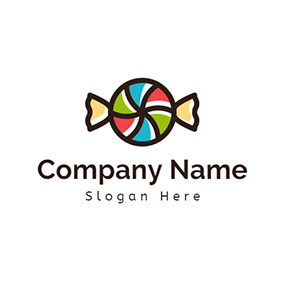 Candy Paper and Colorful Candy logo design