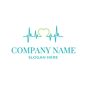 Cardiovascular Test and Heart Diagnostic logo design