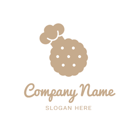 Chef Cap and Brown Cookies logo design