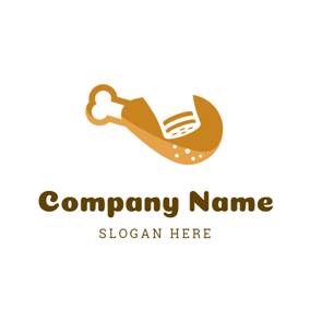 Chicken Leg and Salt logo design