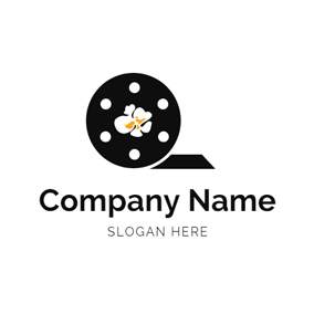 Circle Film and Delicious Popcorn logo design