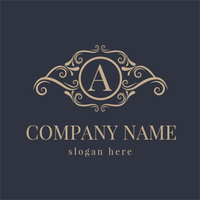 Classic Decoration and Letter A logo design