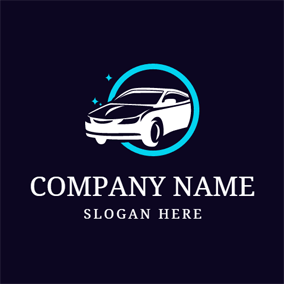 Clean White Auto and Car Wash logo design