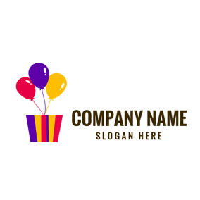 Colorful Balloon and Gradient Box logo design